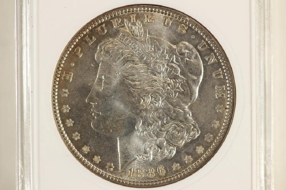 1886 MORGAN SILVER DOLLAR ANACS MS64