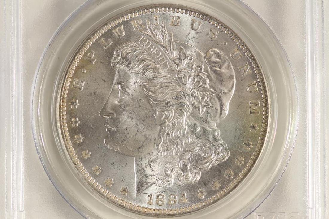 1884-O MORGAN SILVER DOLLAR PCGS MS64