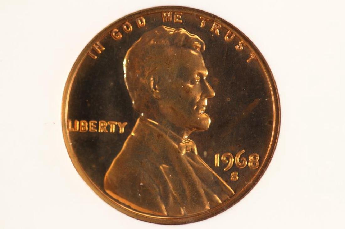 ERROR 1968-S DDO & DDR LINCOLN CENT ANACS PF66