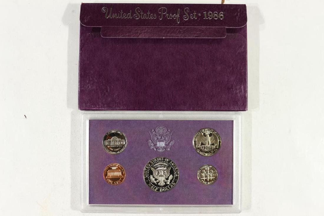 1986 US PROOF SET (WITH BOX) - 2
