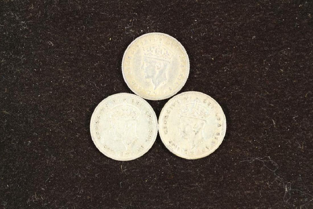 1941,43 & 45 NEWFOUNDLAND SILVER 5 CENTS - 2