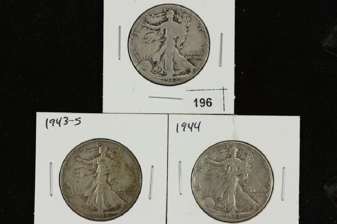 1942,43-S & 44 WALKING LIBERTY HALF DOLLARS