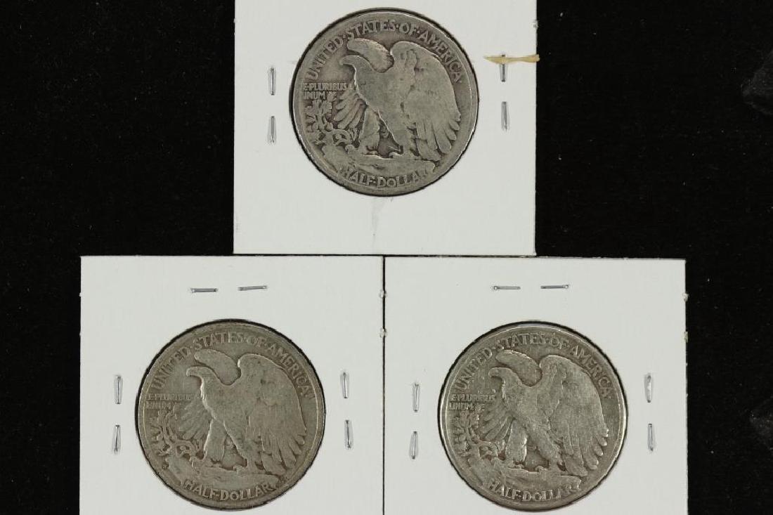 1942,43-S & 44 WALKING LIBERTY HALF DOLLARS - 2