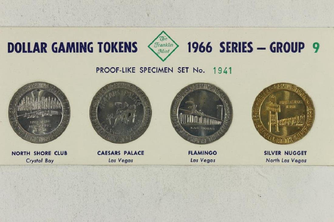 4-$ GAMING TOKENS 1966 SERIES GROUP 9 (PF LIKE)