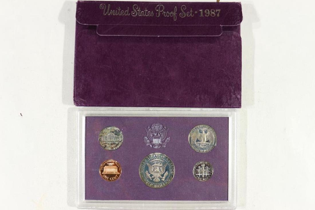 1987 US PROOF SET (WITH BOX) - 2