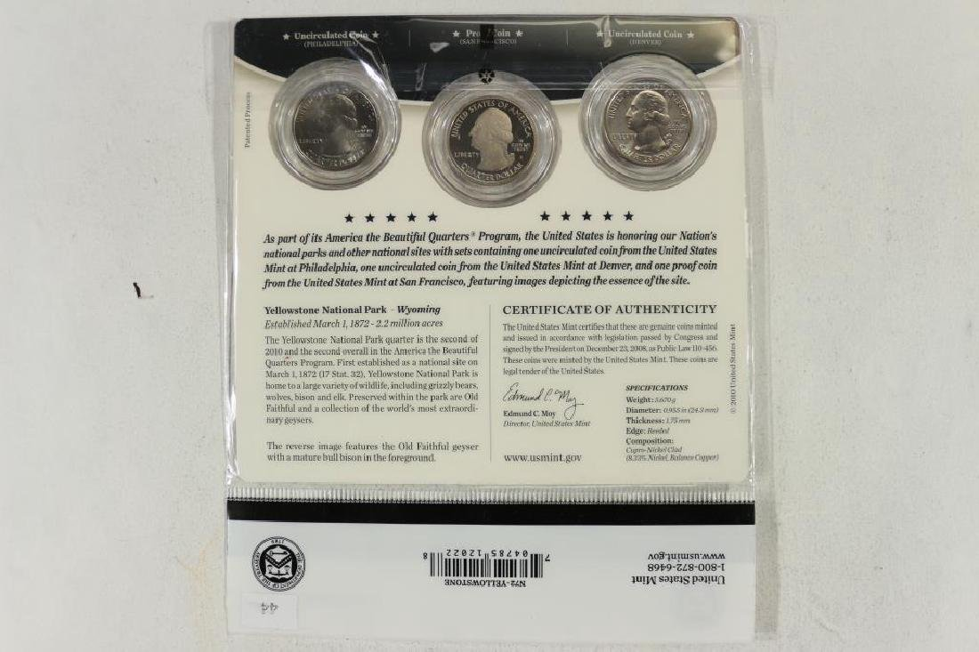 2010-P/D/S AMERICA THE BEAUTIFUL QUARTERS 3 COIN - 2
