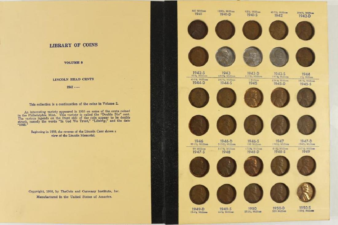 VINTAGE LIBRARY OF COINS LINCOLN CENTS 1941-UP