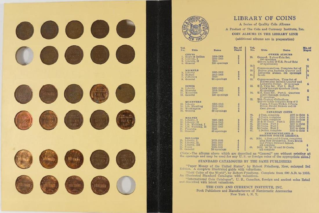 VINTAGE LIBRARY OF COINS LINCOLN CENTS 1941-UP - 3