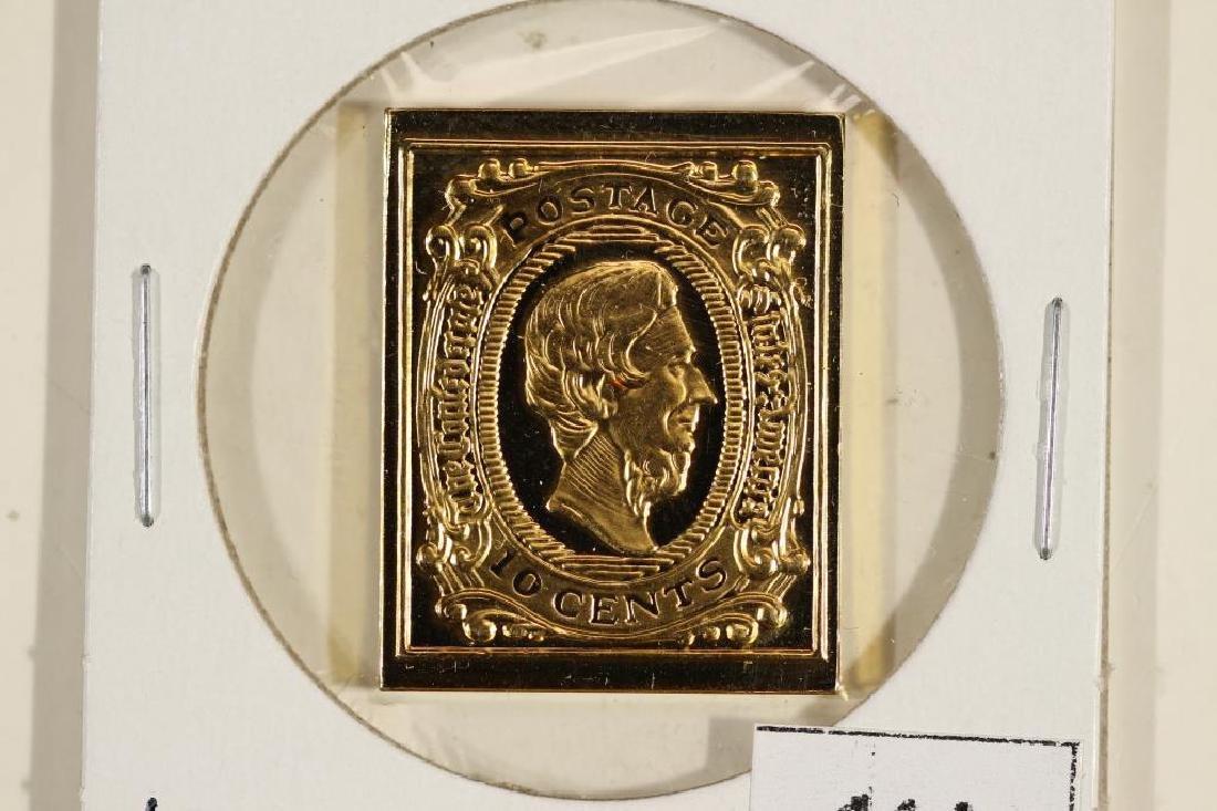 10.3 GRAM 24KT GOLD PLATED STERLING SILVER STAMP