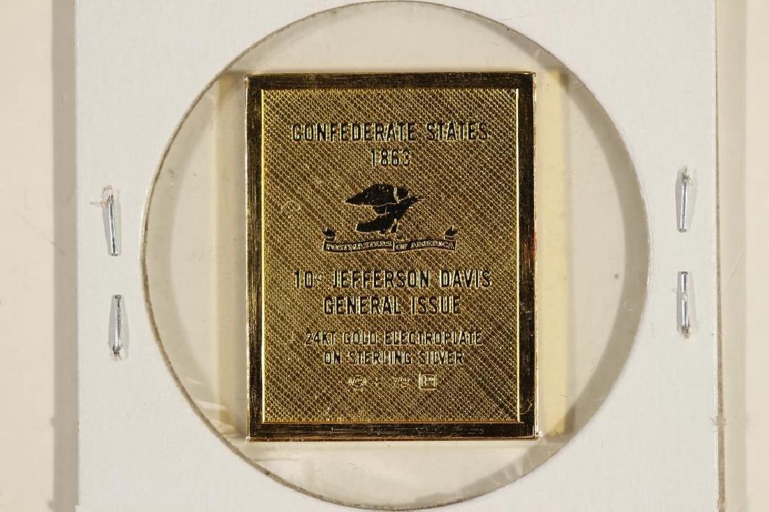 10.3 GRAM 24KT GOLD PLATED STERLING SILVER STAMP - 2