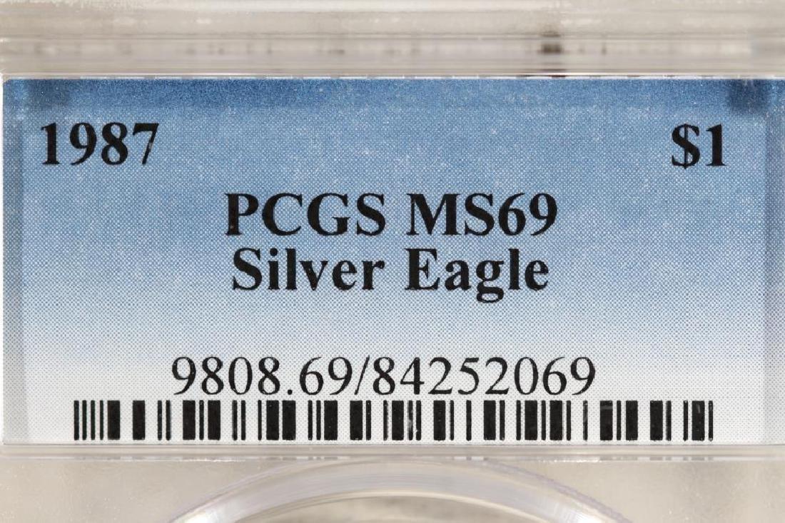 1987 AMERICAN SILVER EAGLE PCGS MS69 - 3