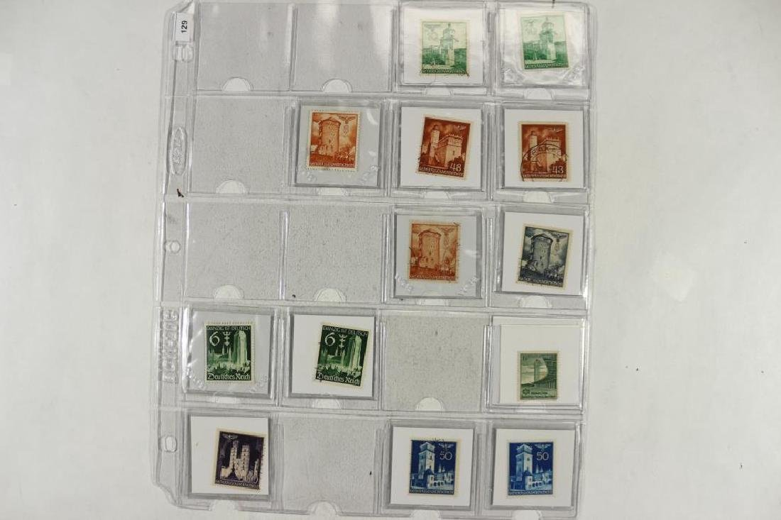 23 WWII GERMAN NAZI STAMPS (BUILDINGS)