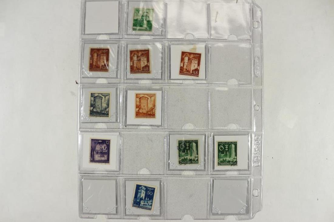 23 WWII GERMAN NAZI STAMPS (BUILDINGS) - 2