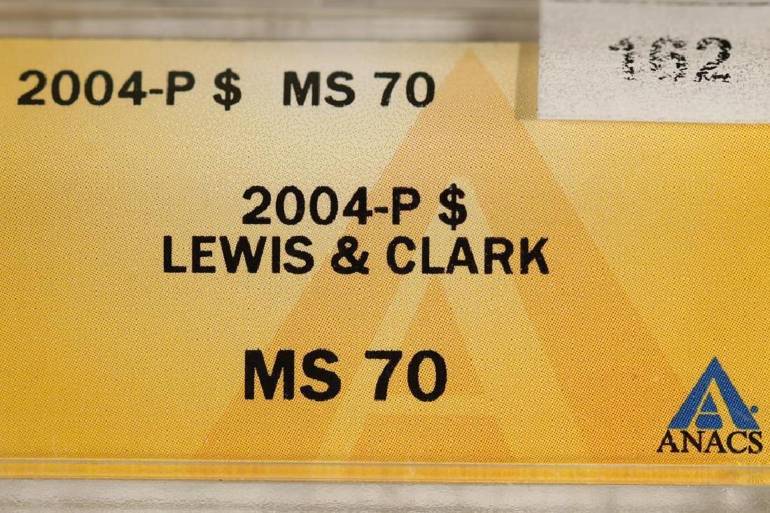 2004-P LEWIS & CLARK SILVER DOLLAR ANACS MS70 - 3