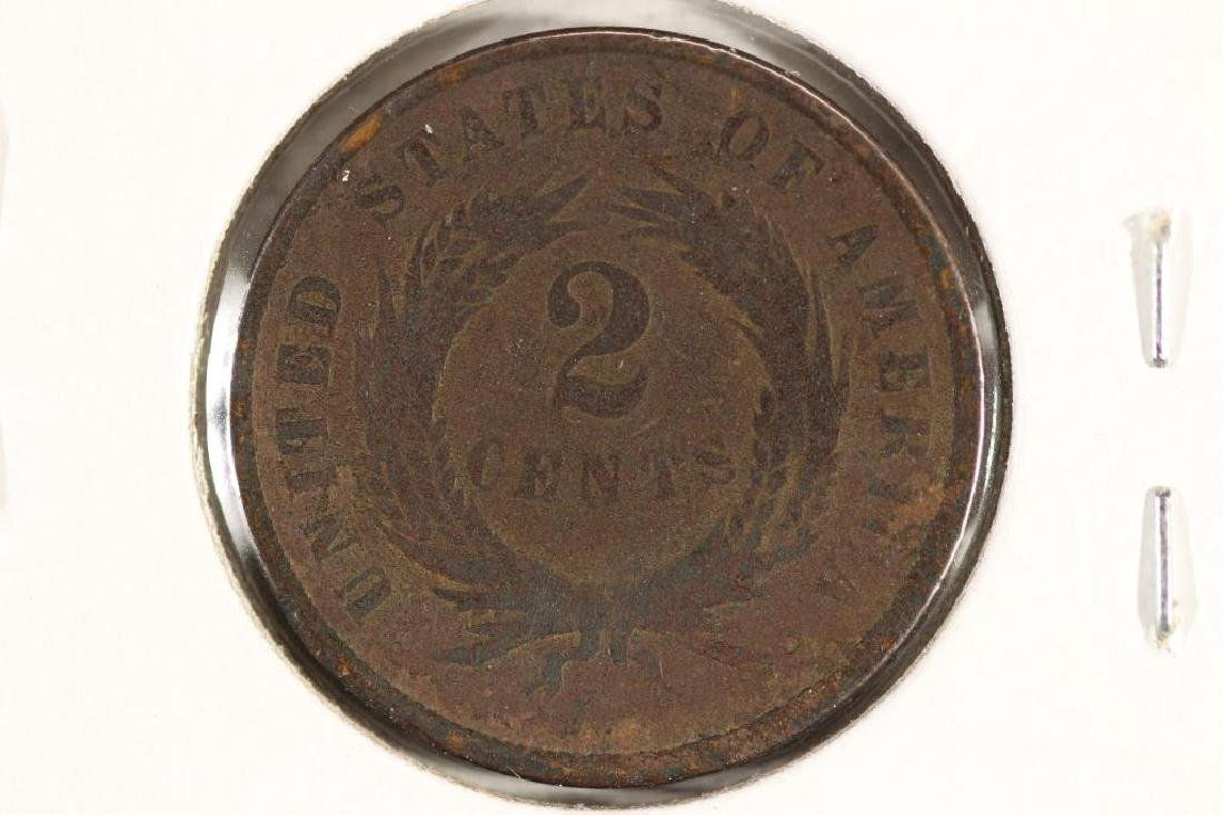 1868 US TWO CENT PIECE - 2