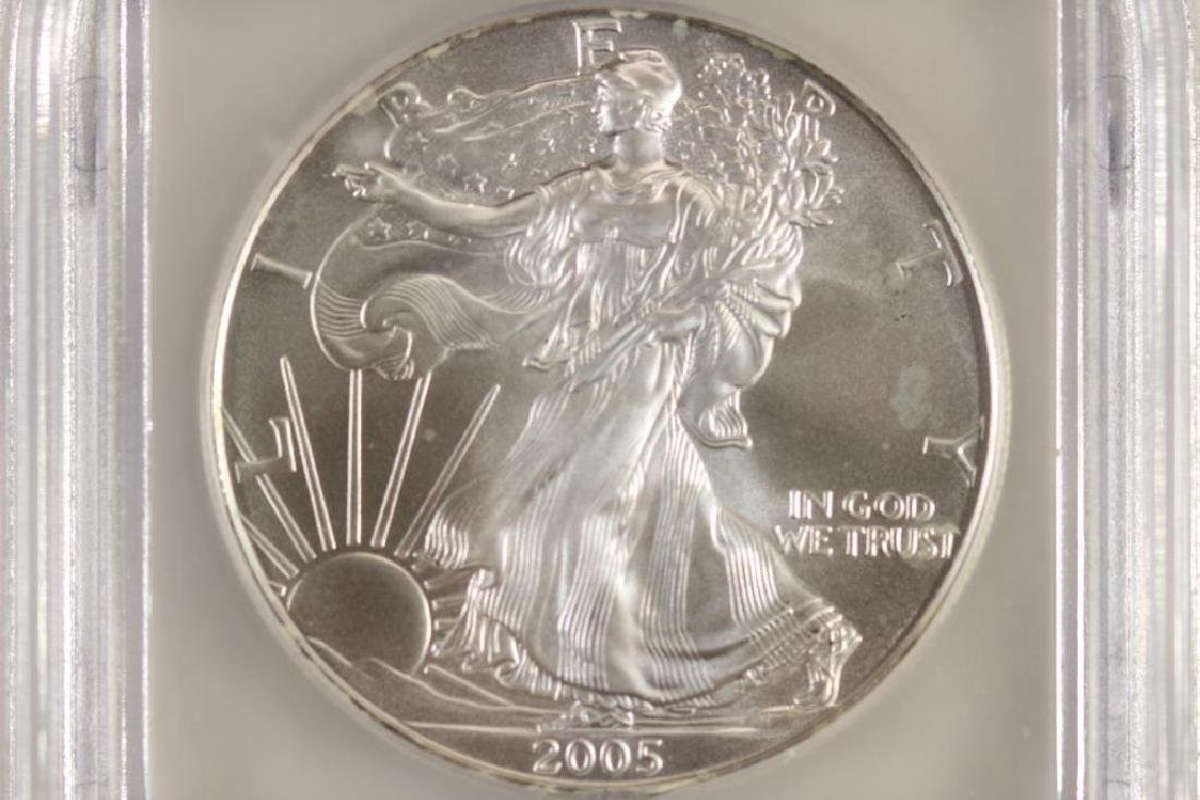 2005 AMERICAN SILVER EAGLE ICG MS70