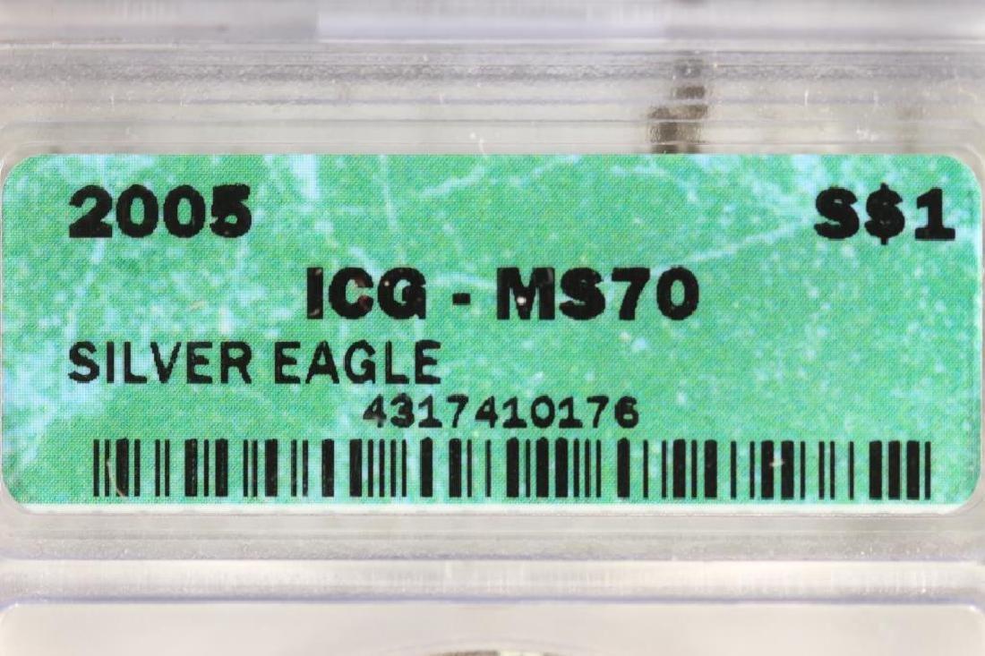 2005 AMERICAN SILVER EAGLE ICG MS70 - 3