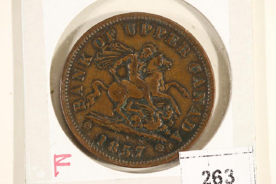 1857 BANK OF UPPER CANADA ONE PENNY TOKEN