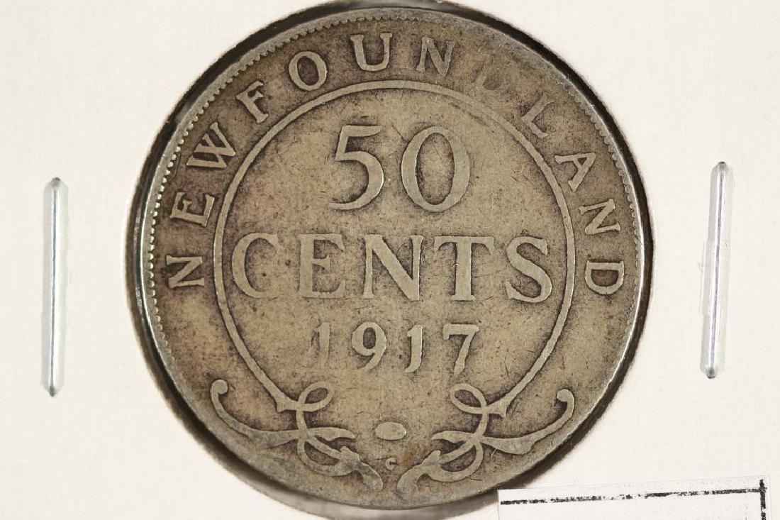 1917-C NEWFOUNDLAND SILVER 50 CENT