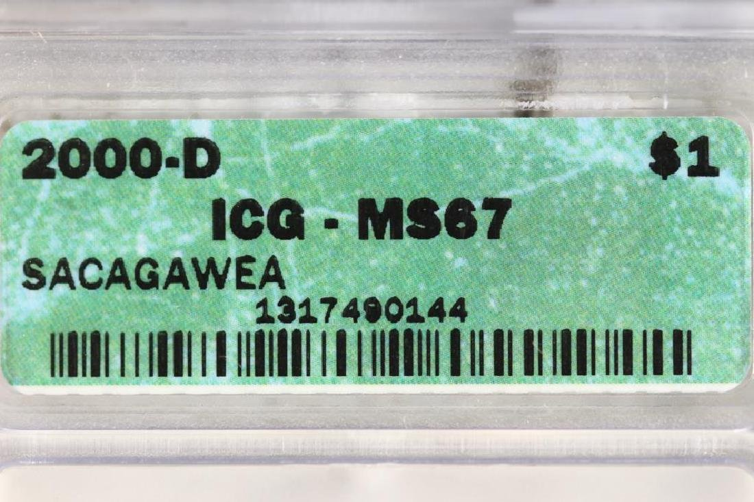 2000-D SACAGAWEA DOLLAR ICG MS67 - 3