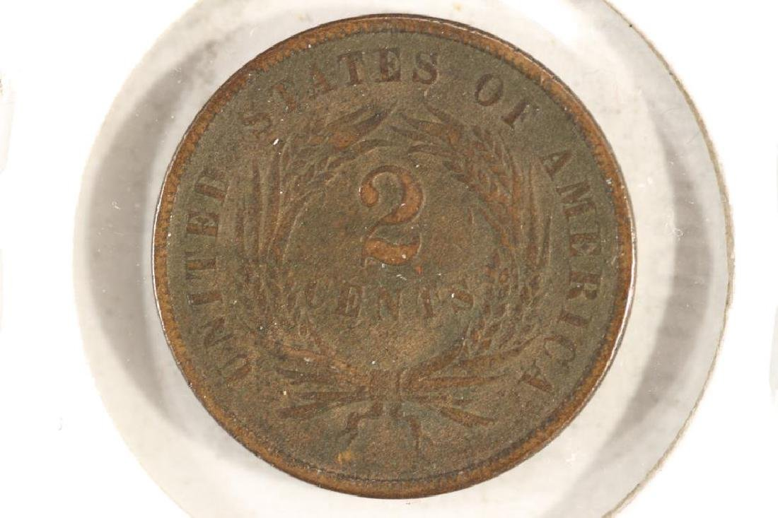 1865 US TWO CENT PIECE VERY GOOD - 2