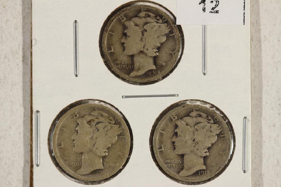 1918-P/D/S MERCURY DIMES