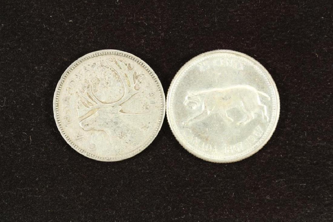 1941 & 1967 CANADA SILVER 25 CENT