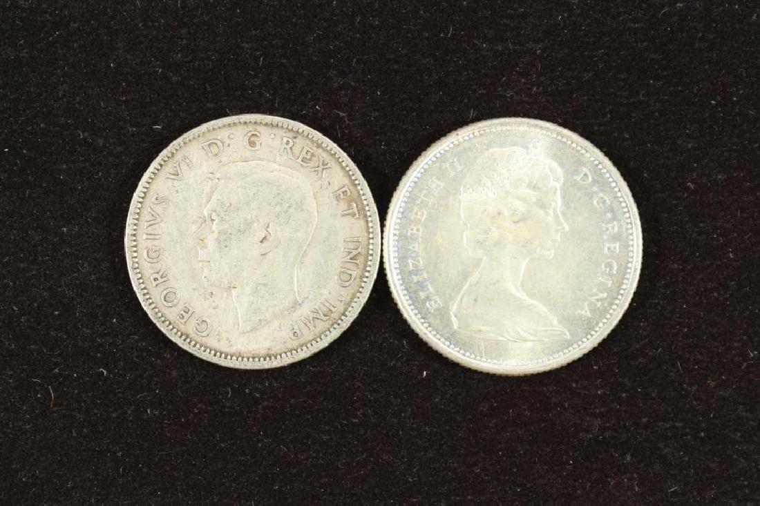 1941 & 1967 CANADA SILVER 25 CENT - 2