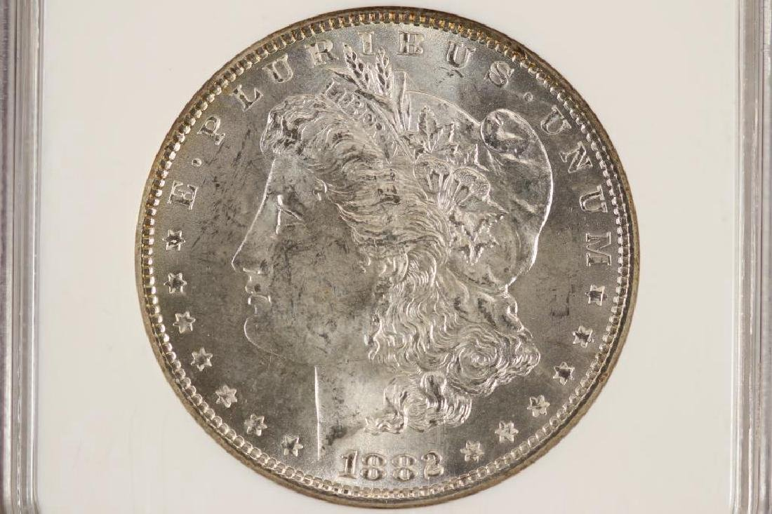 1882 MORGAN SILVER DOLLAR NGC MS63