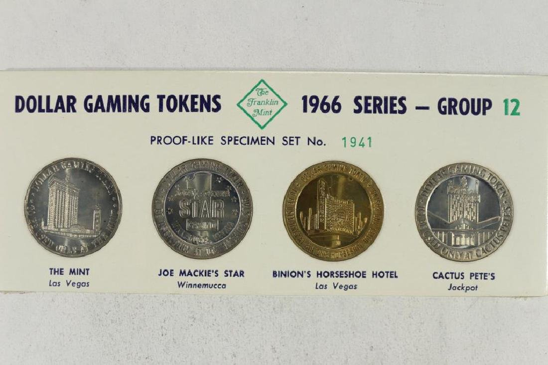 4-1966 SERIES $1 GAMING TOKENS GROUP 12 (PF LIKE)