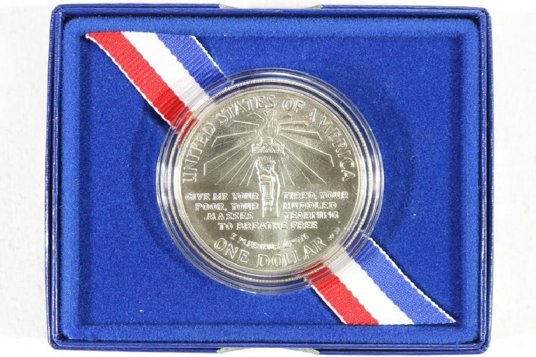 1986-P STATUE OF LIBERTY UNC SILVER DOLLAR - 2
