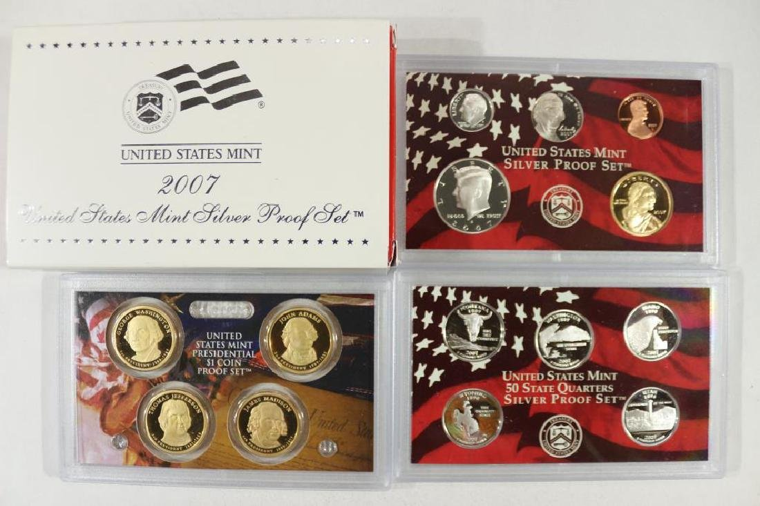 2007 US SILVER PROOF SET (WITH BOX) 14 PIECES