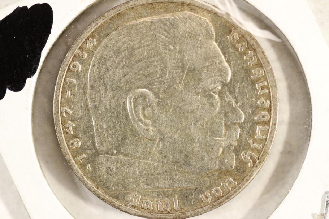1939-A GERMAN SILVER 2 MARK WITH SWASTIKA - 2
