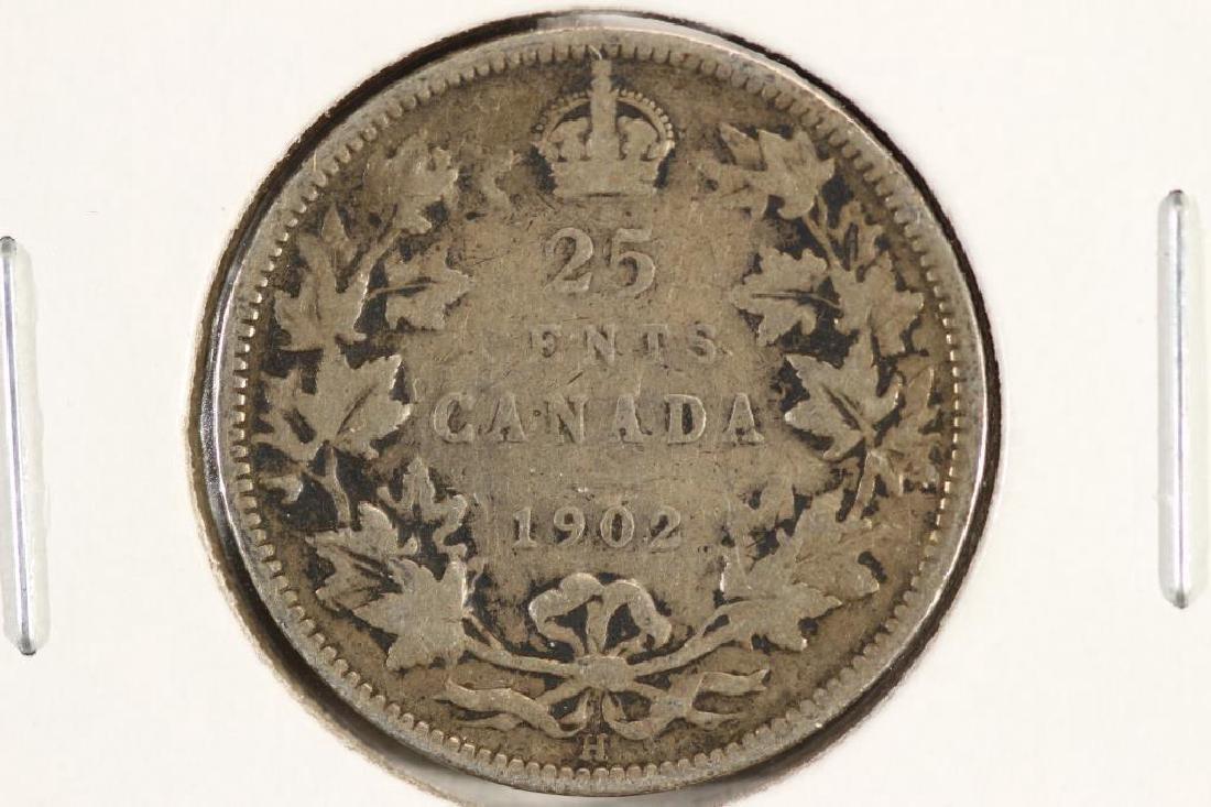 1902-H CANADA SILVER 25 CENT