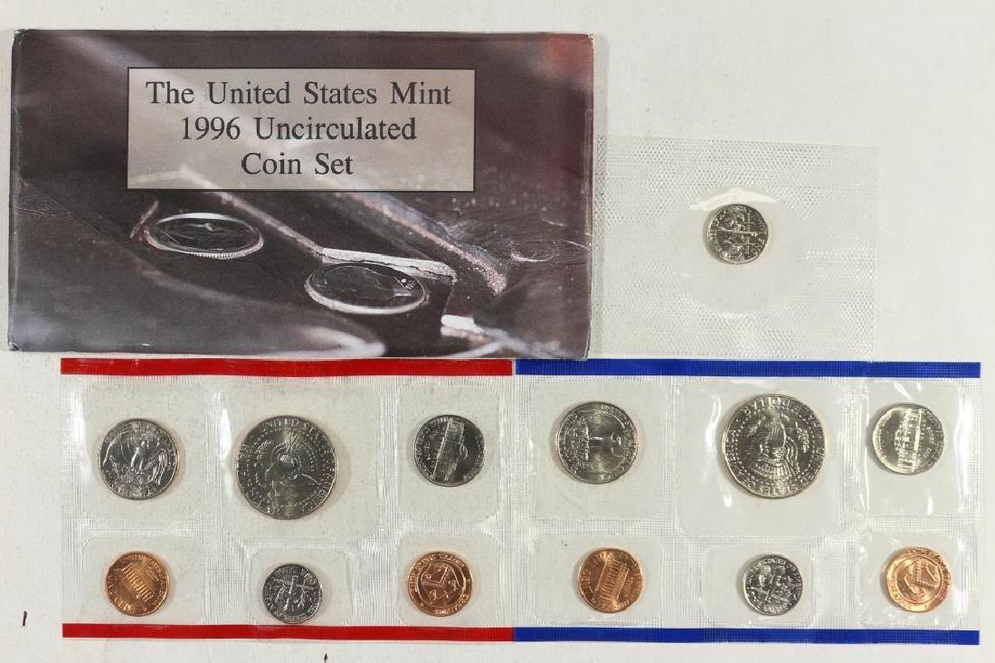 1996 US MINT SET (UNC) P/D (WITH ENVELOPE) - 2