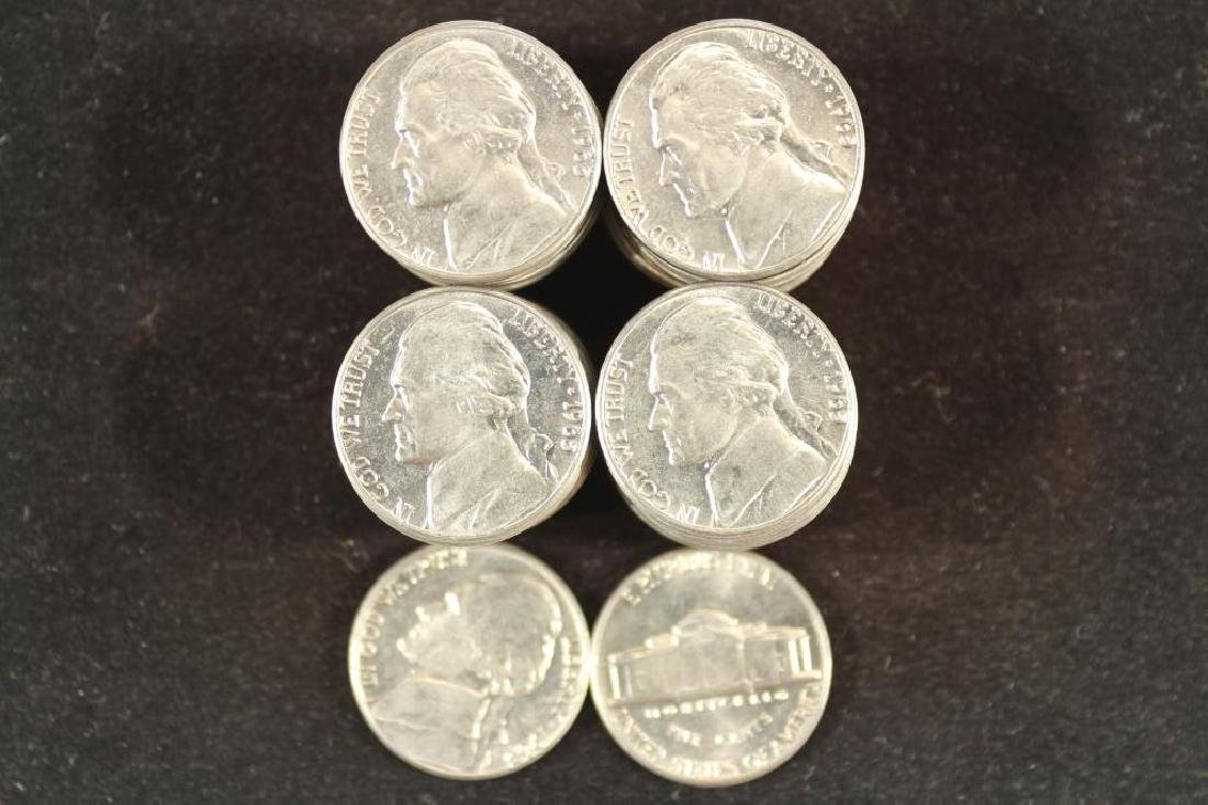 ROLL OF 40-1965 JEFFERSON NICKELS BRILLIANT UNC