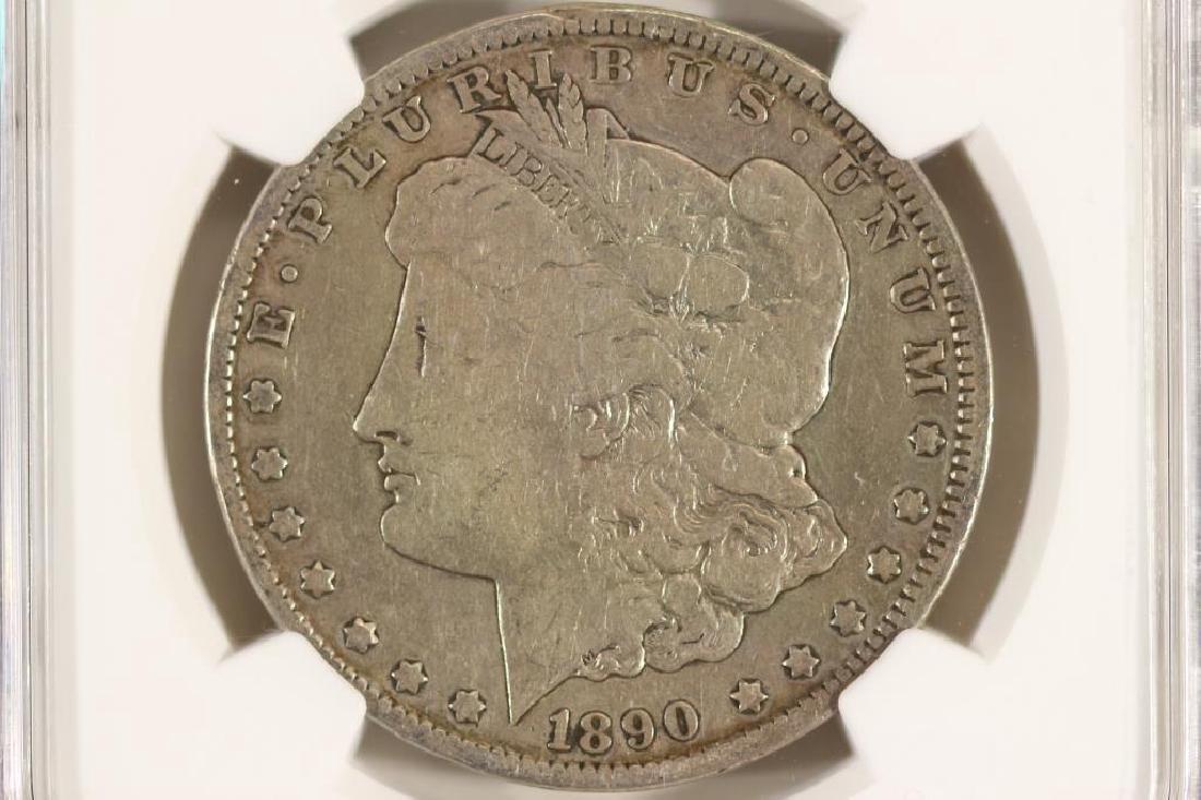 1890-CC MORGAN SILVER DOLLAR NGC VERY GOOD 10