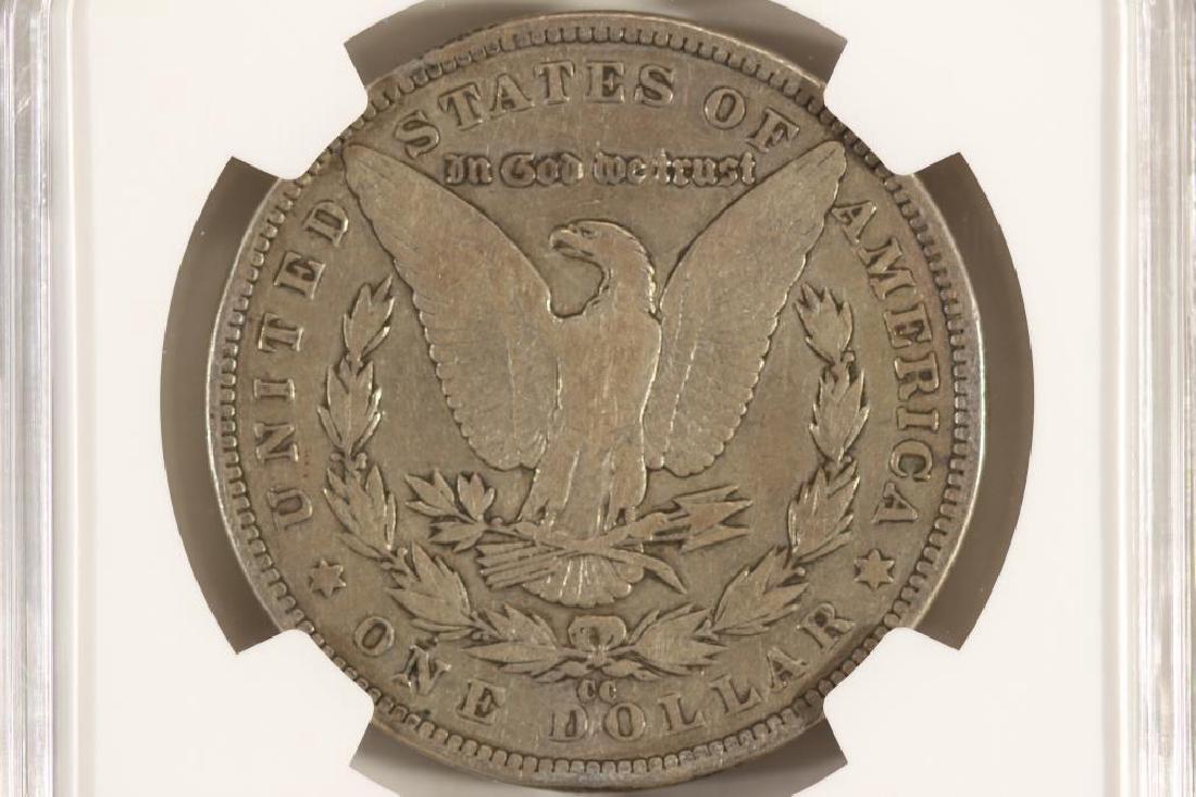 1890-CC MORGAN SILVER DOLLAR NGC VERY GOOD 10 - 2