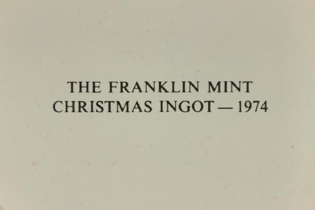 1000 GRAINS SOLID STERLING SILVER FRANKLIN MINT - 3