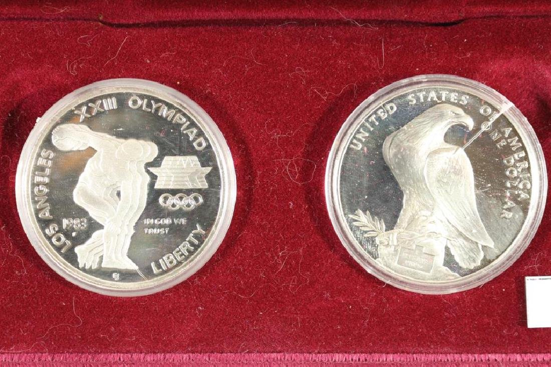 1983-S & 1984-S US OLYMPICS 2 COIN PROOF SILVER $
