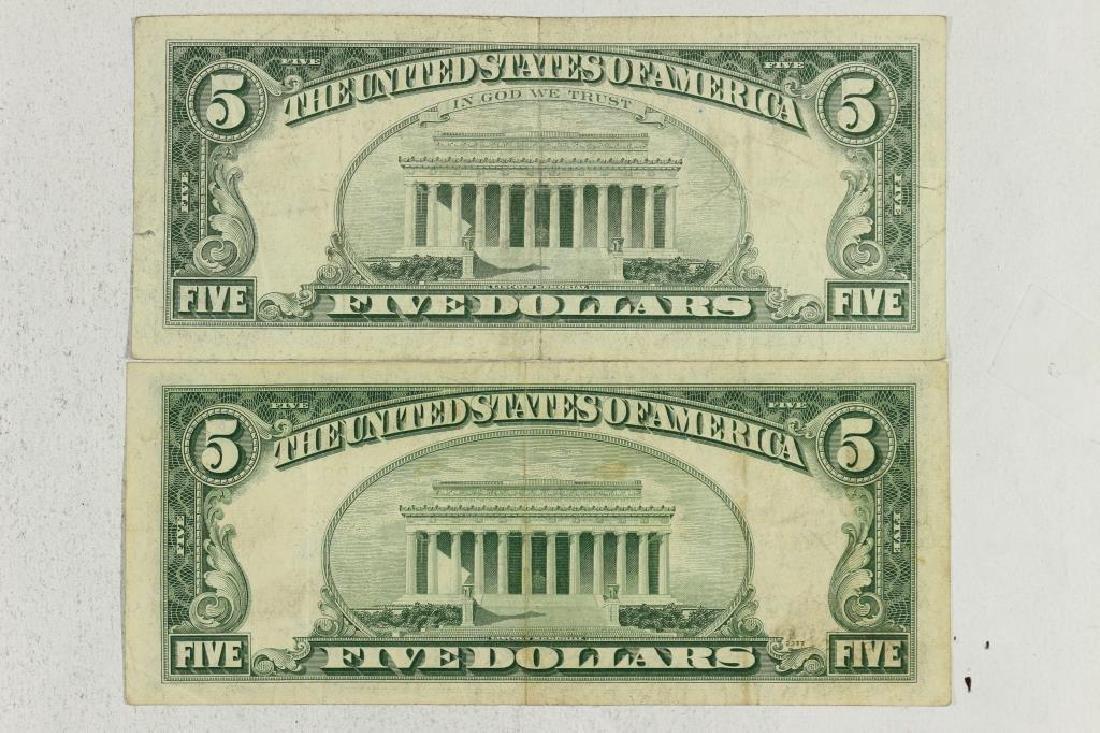 1953-A $5 SILVER CERTIFICATE & 1963 $5 US NOTE - 2