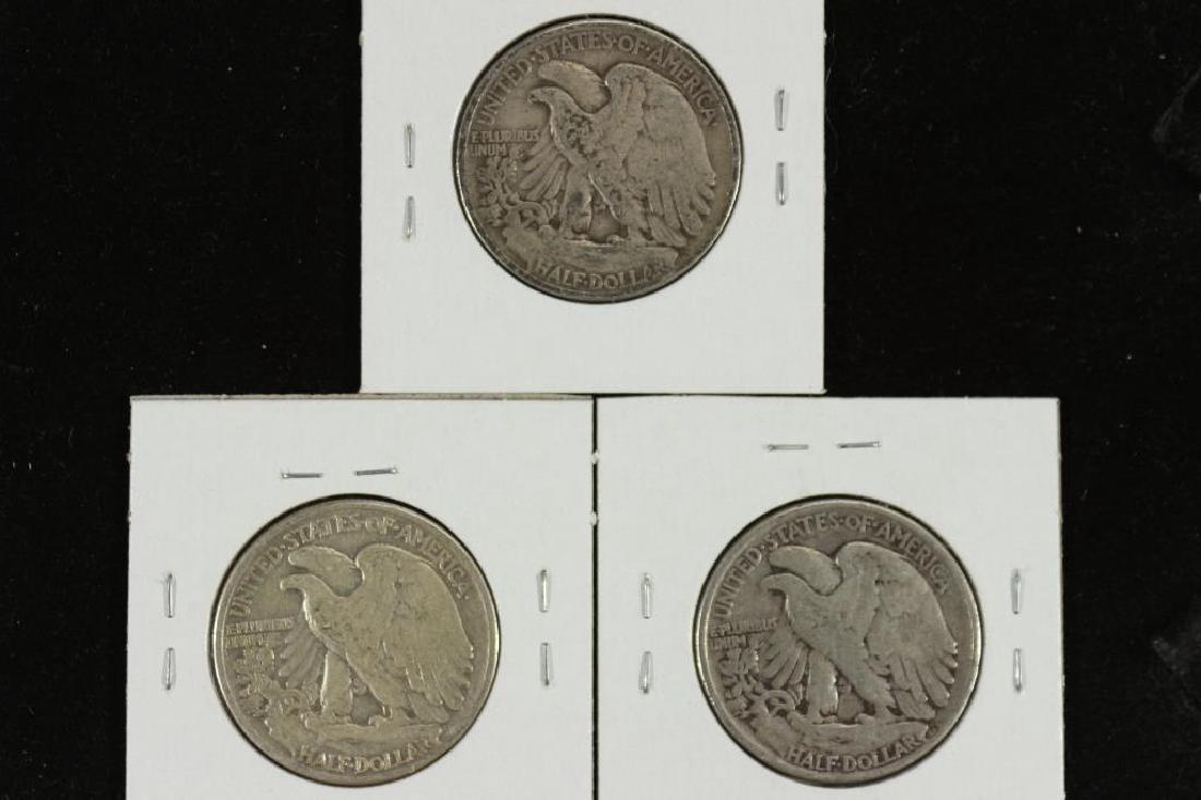 1941,42 & 43 WALKING LIBERTY HALF DOLLARS - 2