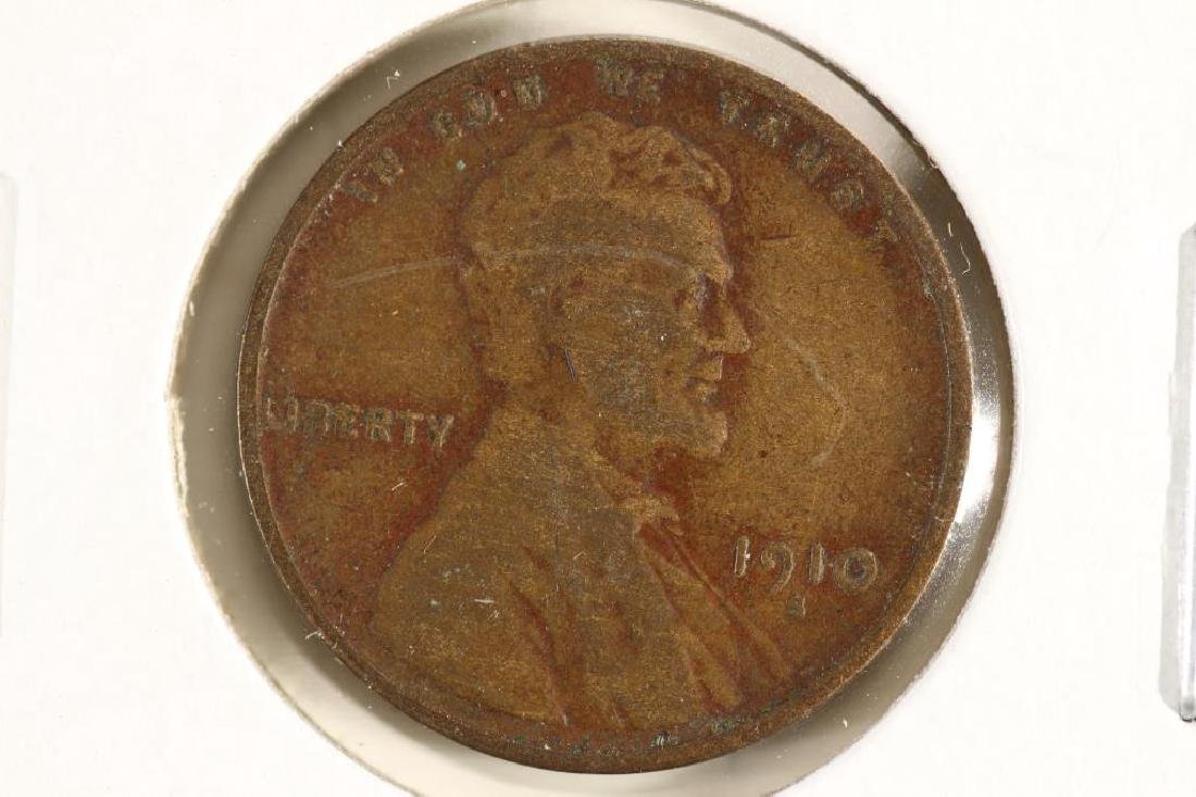 1910-S LINCOLN CENT (SEMI-KEY) (FINE)