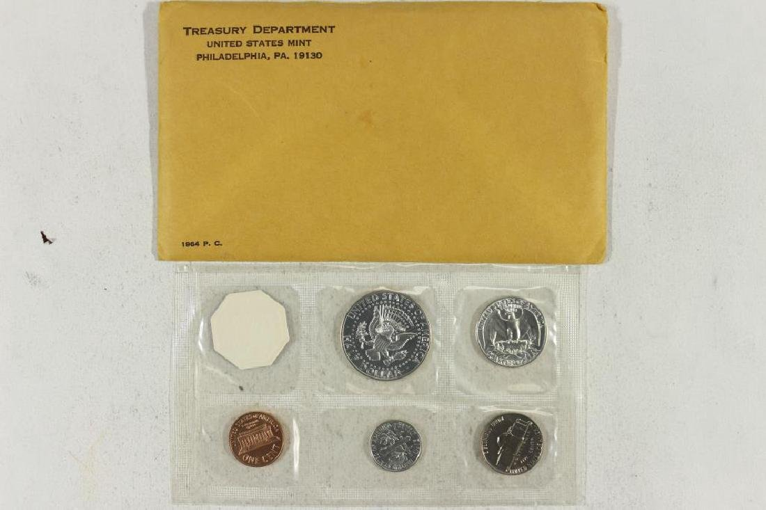 1964 US SILVER PROOF SET (WITH ENVELOPE) - 2