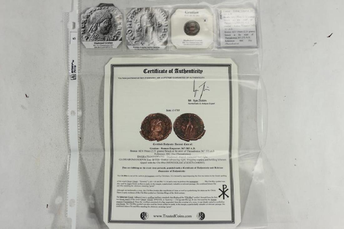 367-383 A.D. GRATIAN ANCIENT COIN (FINE)