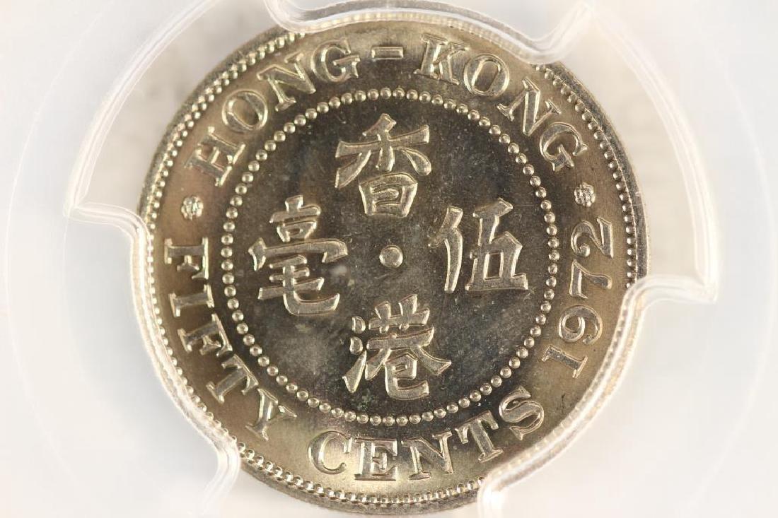 1972 HONG KONG 50 CENTS PCGS MS65 - 2