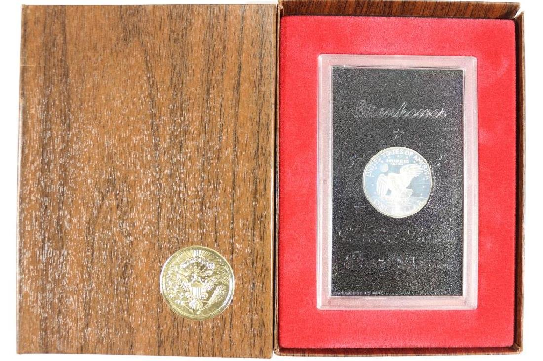 1971-S IKE SILVER DOLLAR PROOF (BROWN PACK) - 2