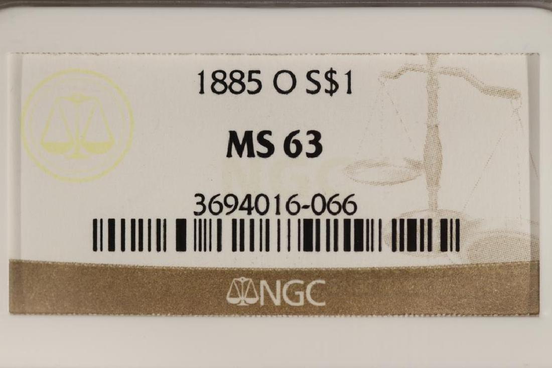 1885-O MORGAN SILVER DOLLAR NGC MS63 - 3