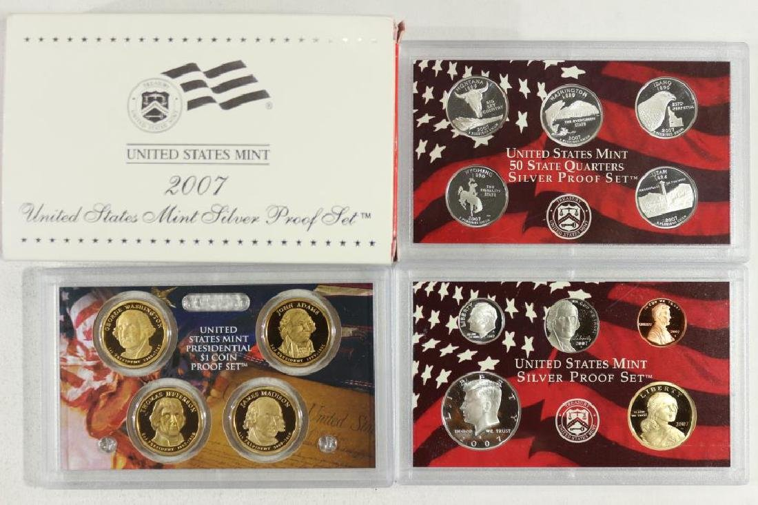 COMPLETE 2007 US SILVER PROOF SET (WITH BOX)