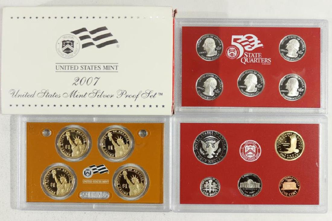 COMPLETE 2007 US SILVER PROOF SET (WITH BOX) - 2